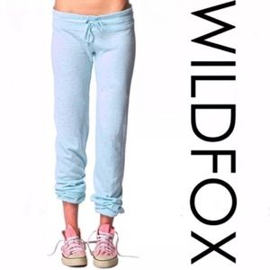 NWOT Wildfox Blue Basis Jogger Sweatpants - Large